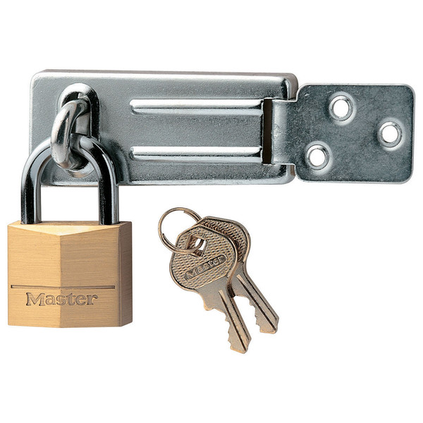 40mm Brass Padlock with 91mm Hasp