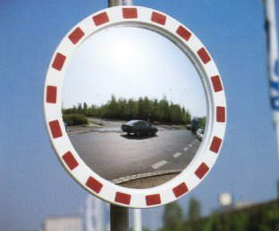 800mm Diameter Convex Polycarbonate Traffic Mirror