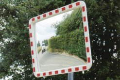 600mm Diameter Convex Acrylic Traffic Mirror