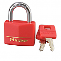 40mm Solid Brass Padlock with Red Vinyl Cover