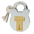 50mm Old English Zinc Plated padlock