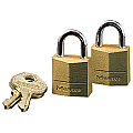 20mm Solid Brass Padlock Keyed Alike (Twin Pack)