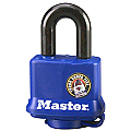 40mm Thermoplastic Covered Padlock, Blue