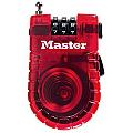 60mm  Fixed Combination Retractable Cable Lock, 3 Dials