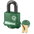 40mm Thermoplastic Covered Padlock, Green