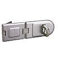 203mm Hardened Steel Hasp, Accepts 13mm Shackle Diameter