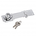 118mm Steel Hasp with Built in Lock