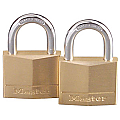 40mm Solid Brass Padlock Keyed Alike (Twin Pack)