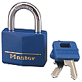 40mm Solid Brass Padlock with Blue Vinyl Cover