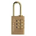20mm Brass Changeable Combination Padlock, 3 Dials