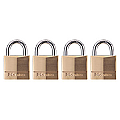 40mm Solid Brass Padlock Keyed Alike (Quad Pack)
